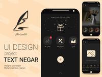 ui Design 3 page project textNegar
