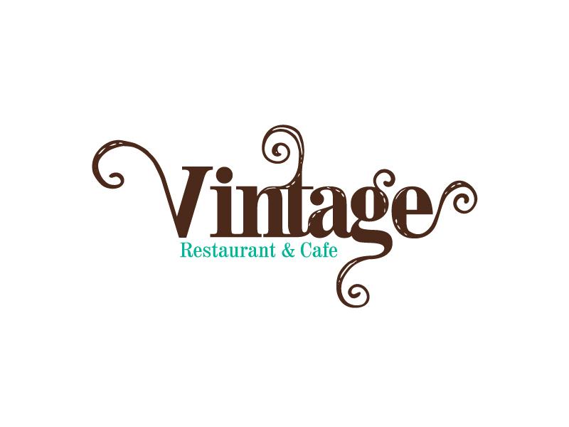 Vintage Restaurant  branding brand logos logo bahrain restaurant vintage
