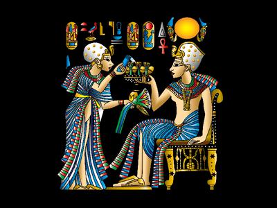 Pharaohs, illustration