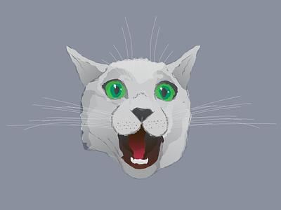 Instagram Story Highlight Icon - Crazy Cat watercolor instagram cat icon adobe flat vector illustration branding design illustrator