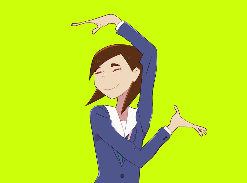 Eizouken - Mizusaki anime digital art illustration design illustrator