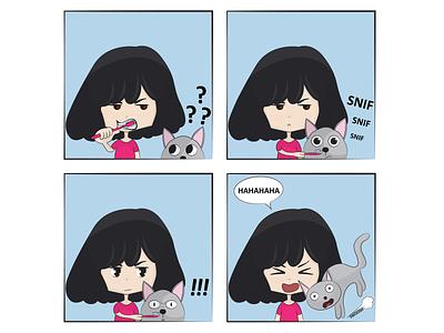 Tails of Suspense: Mistakes were Made cat art drawing illustration digital art comic comic strip cat comic