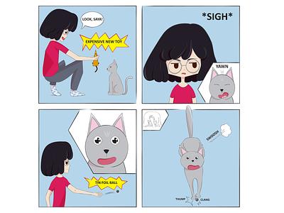 Tails of Suspense: Garbage Kitty illustration drawing digital art cat comic comic strip comic