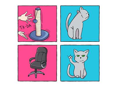 Tails of Suspense: The Scratcher comic strip comic drawing digital art illustration