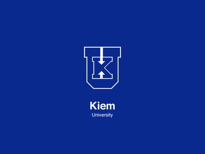 Daily Logo Challenge - Day 38: University Logo. Kiem University.