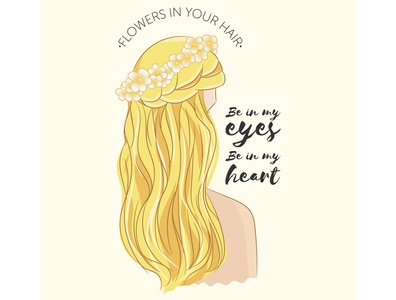 The Lumineers - Flowers In Your Hair - Lyrics Poster