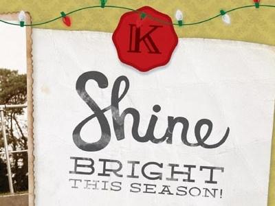 Family Christmas card hand drawn type christmas card shine