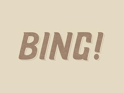 Bing  bing! bing