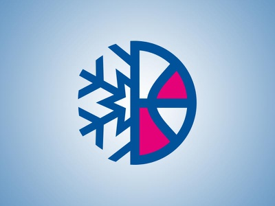 Bball League Approved Logo hoops stars snowflake basketball women