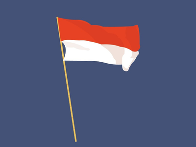 Indonesia Flag illustration