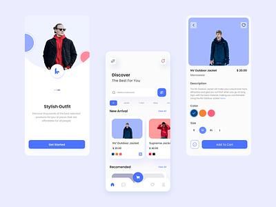 Fashion App UI Design uxdesign store appmobile fashion uidesign uiux odamachallange01