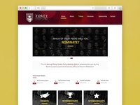 Website Redesign for NCCU's 40 Under 40 Awards Gala