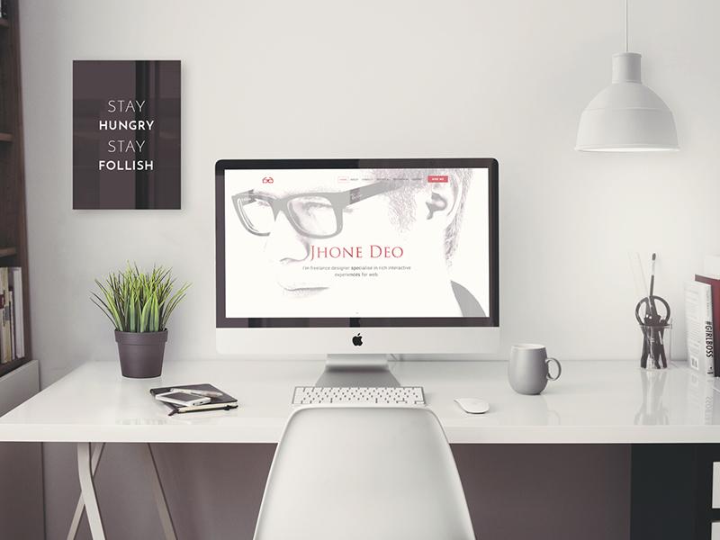 Jhone Deo onepager wordpress template portfolio onepage
