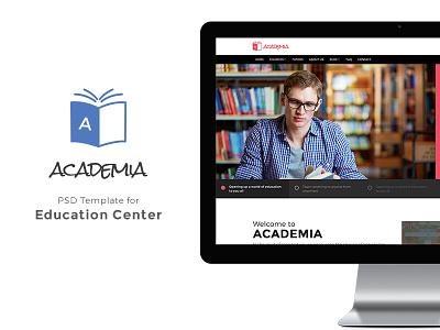 Academia - Educational PSD Template university theme training institute school website modern material language center educational theme business theme