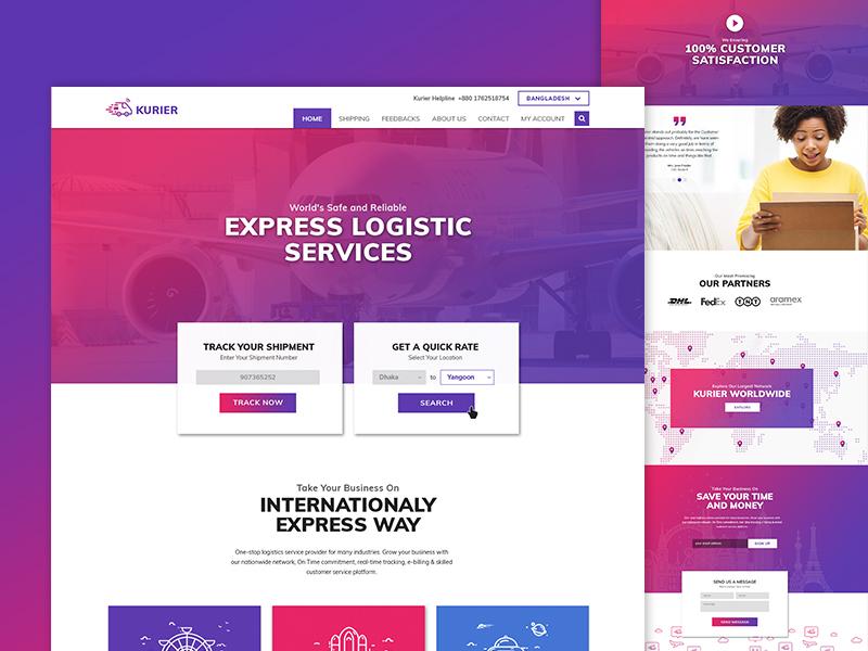 Kurier Express Landing Page