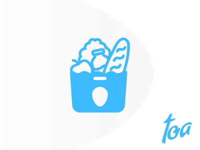 toa e-commerce food grocery shop ui ux mobile app ios android store recipies