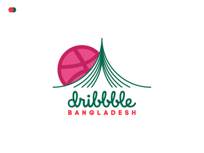 Dribbble BD start sticker green red bangladesh bd logo team dribbble group