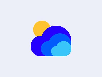 Clouds branding vector mobile app logo illustration design