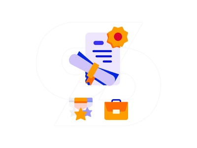 Education, Skills and Experience ux app mobile simple icon ai job experience skills