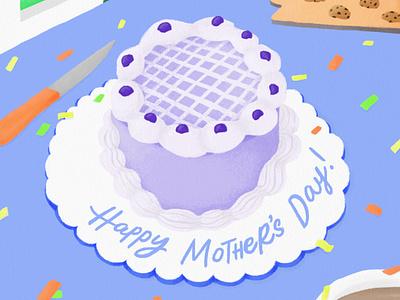 Mothers' Day Cake cake illustration mothers day mothersday food art food illustration food drawing digital drawing digital illustration digitalillustration digital art digitalart design colors artwork artph artist art
