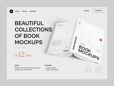 Book Mockups minimal minimal design typography design interaction landing hero banner minimal website web design mockups mockup branding graphic design free mockups free mockup