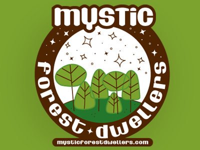 Mystics in the Forest logo logo design collateral identity