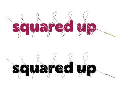 Squared Up Logo logo logo design collateral identity