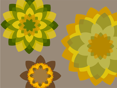 Petaaal flower petal vector pattern