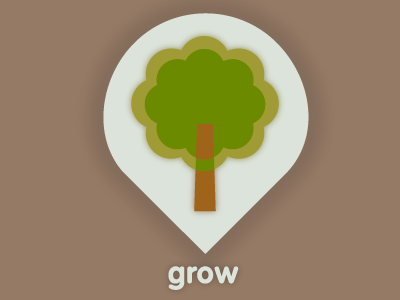 Grow icon tree identity