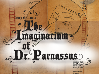 Imaginarium of Dr. Parnassus erin lynch terry gilliam poster movie poster design imaginarium of dr. parnassus