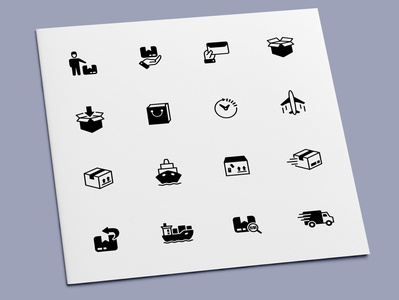 Logistics Icons shipping delivery transportation transport business logistics icon set icons icon design icon