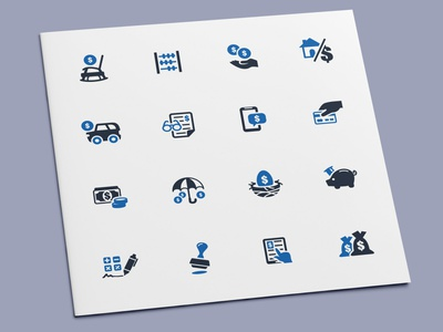Loan & Finance Icons accounting payment tax mortgage investment profit money finance business loan icon set icons icon design icon