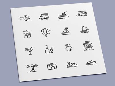 Travel Icons holidays holiday vehicle transportation transport vacation travel icon set icons icon design icon