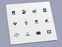 Energy & Power Icons battery solar renewable power ecology energy icon set icon design icons icon