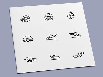Plane Icons travel fly flight aircraft airplane plane icon set icon design icons icon