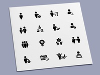 Business Administration Icons hierarchy manager leadership leader administration management businessman business icon set icon design icons icon