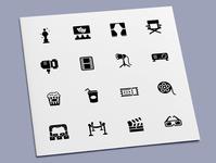 Cinema Icons theater tragedy comedy drama video film movie cinema icon set icon design icons icon