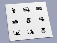 Online Education Icons course elearning learn study online education icon set icon design icons icon