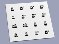 Medical Personnel Icons physician medic nurse doctor healthcare medical icon set icon design icons icon