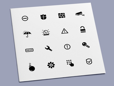 Security Icons warning alarm privacy password secure safe protection security icon set icon design icons icon