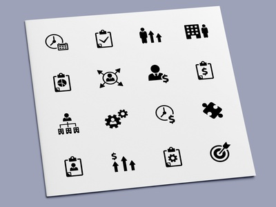 Business Strategy Icons leadership management strategy planning plan businessman business icon set icon design icons icon