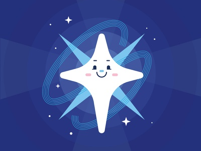 The Star star cute tarot vector illustration