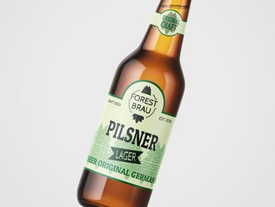 Forest Brau Craft beer Bottle & Logo design