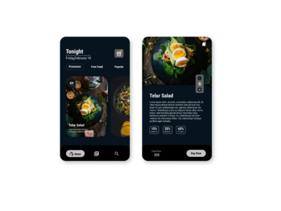 Food UI Android App