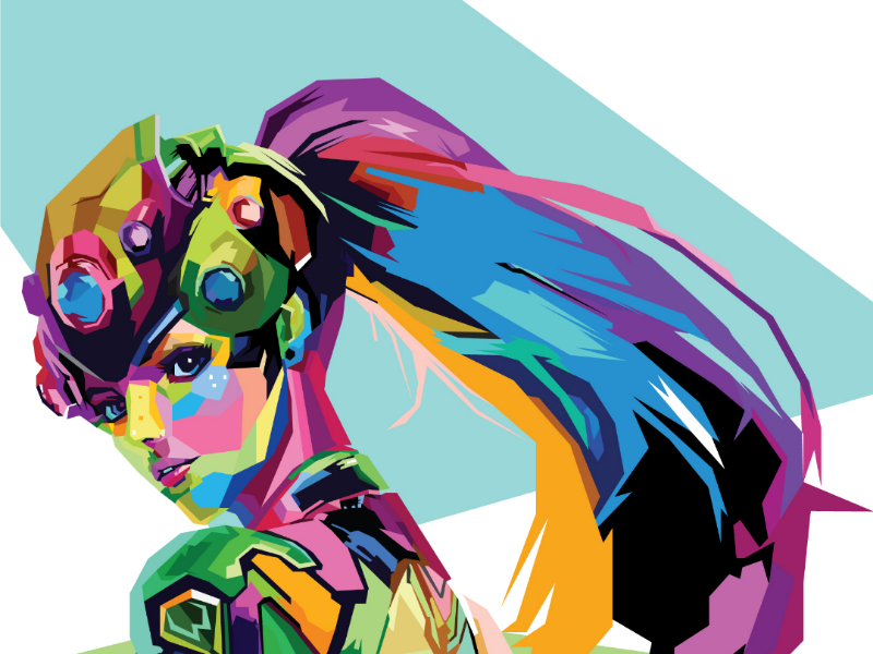 Widowmaker Colorful illustration colorful designer grafhic designer illustator pop art wpap vector illustration