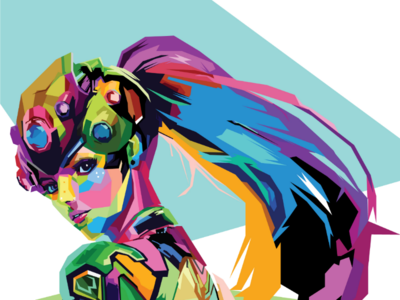 Widowmaker Colorful illustration