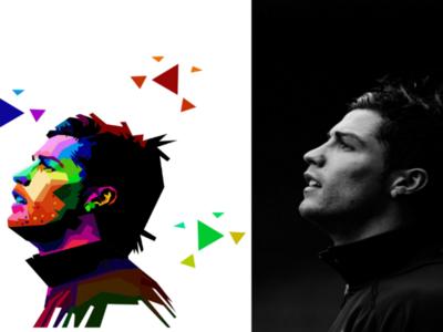 C.Ronaldo In Pop Art