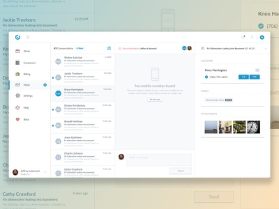 Messages (Desktop) inbox email text message ux ui messaging messages