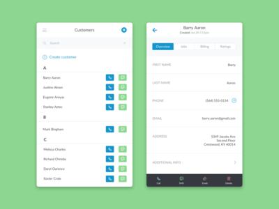 Customers List (Mobile)