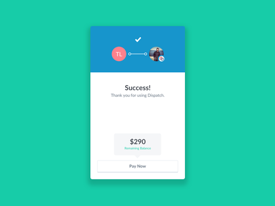 Job Completion (Mobile) ios mobile ux ui minimalist simple steps thank you thanks success completion